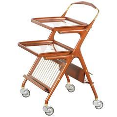 Italian Cesare Lacca Serving Bar Cart for Cassina