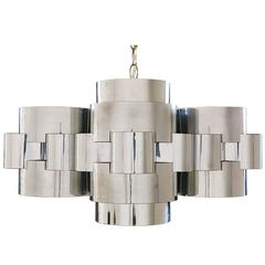 "Curtis Jere ""Cloud"" Chrome Chandelier for Artisan House"
