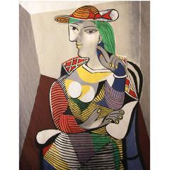 """After Pablo Picasso, """"Portrait de Marie Thérèse, 1937"""" Tapestry"""