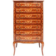 Regency Drawer Chest with decorative inlay