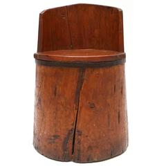 Primitive decorative wabi sabi folk art Chair