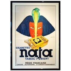Rare Large Jules Isnard French Deco Silkscreen Poster