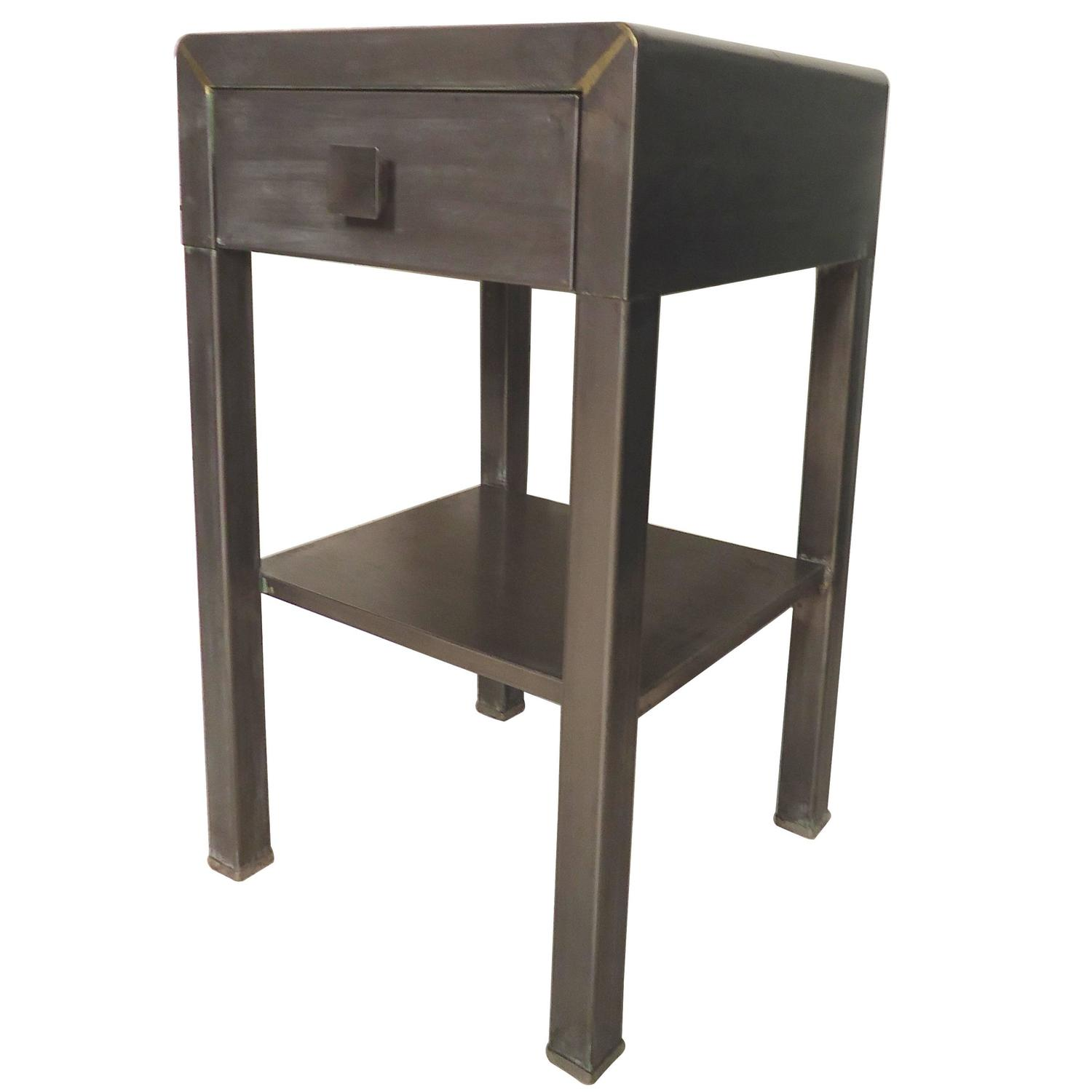 Side Table By Simmons With Industrial Style Finish For