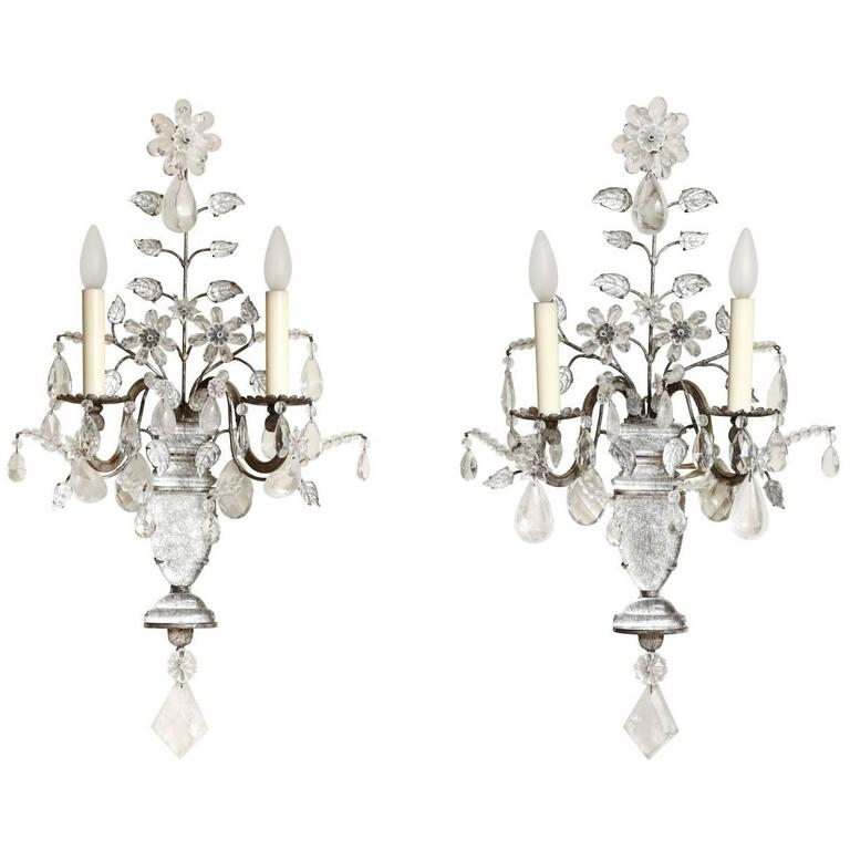 A Pair of Maison Bagues Two-Light Wall Sconces