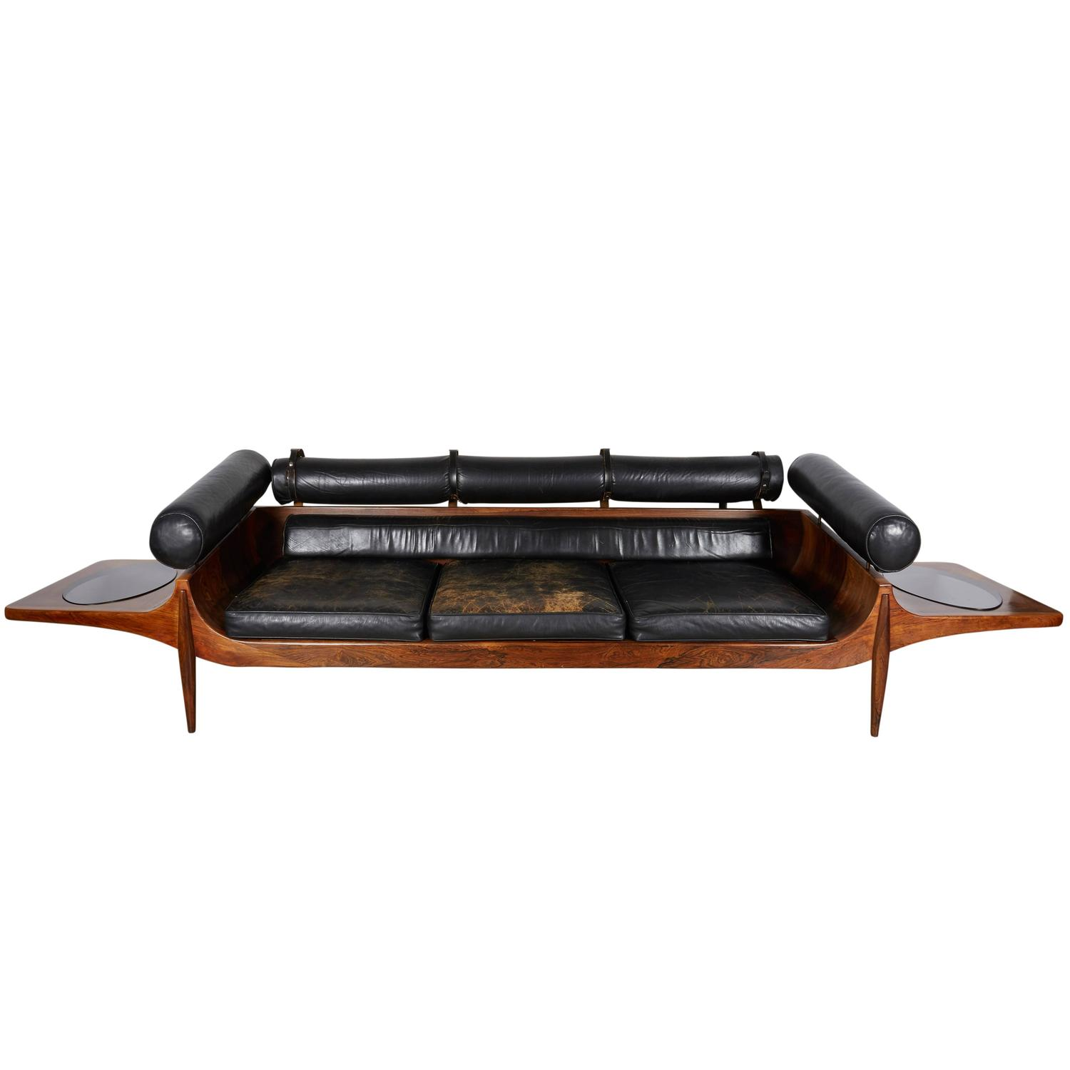 Cool Sofas For Sale: Unique Custom Rosewood Mid-Century Sofa For Sale At 1stdibs