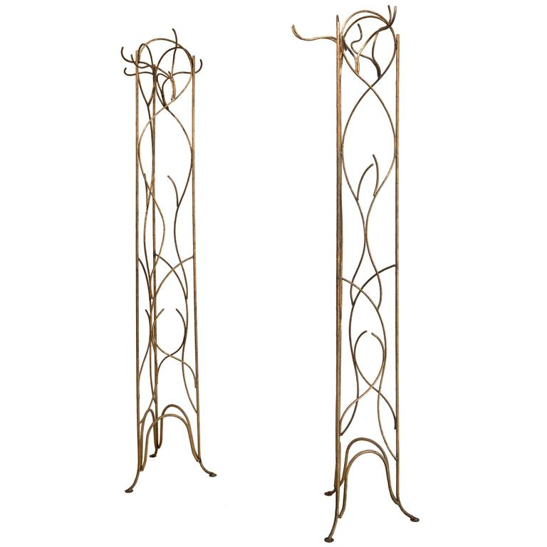 Vintage Gold Leafed and Wrought Iron Store Displays
