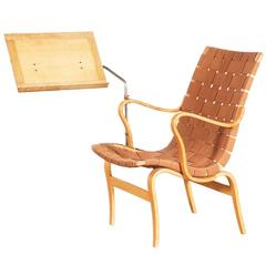 Bruno Mathsson Easy Chair for Karl Mathsson with Rare Book Stand