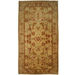 Arts & Craft Style Vintage Portuguese Palace Size Rug, 'Cuenca Carpet'
