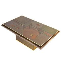 Brutalist Coffee Table in the style of Paul Kingma, 1970s