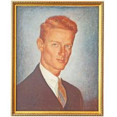 """Redhead,"" Striking 1940s Portrait of Young Man by John Menihan"