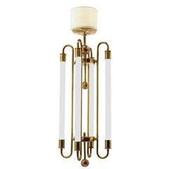 Brass Chandelier by Kaiser