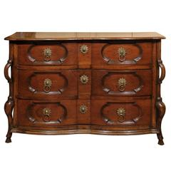 18th Century French Louis XIV Style Walnut Commode
