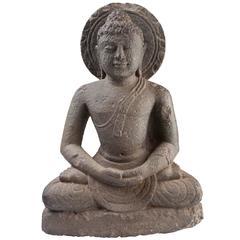 19th Century Granite Buddha in Meditation 'Dhyana' Mudra