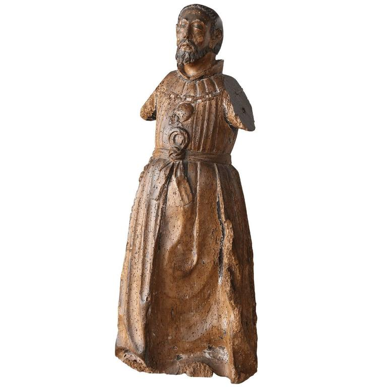Late 18th Century Carved Italian Santo