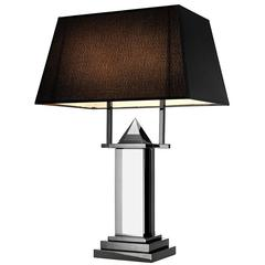 Diamant Table Lamp in Smoked Crystal Glass