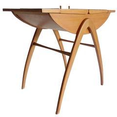Danish Modern Compass Legs Storage Box Chest Table Modernist Vintage Design