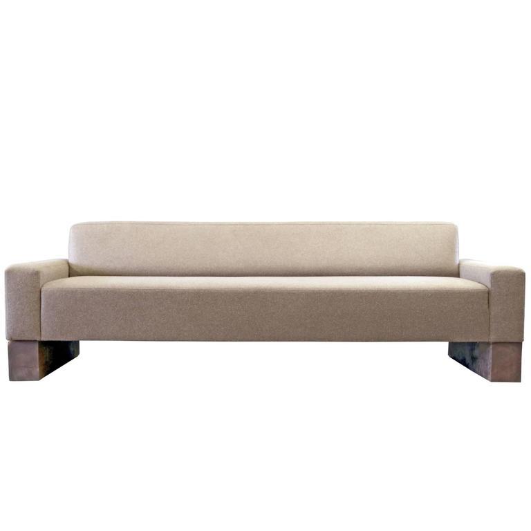 Shimna Beam Sofa in Divina Melange by Kvadrat for Maharam Wool Upholstery