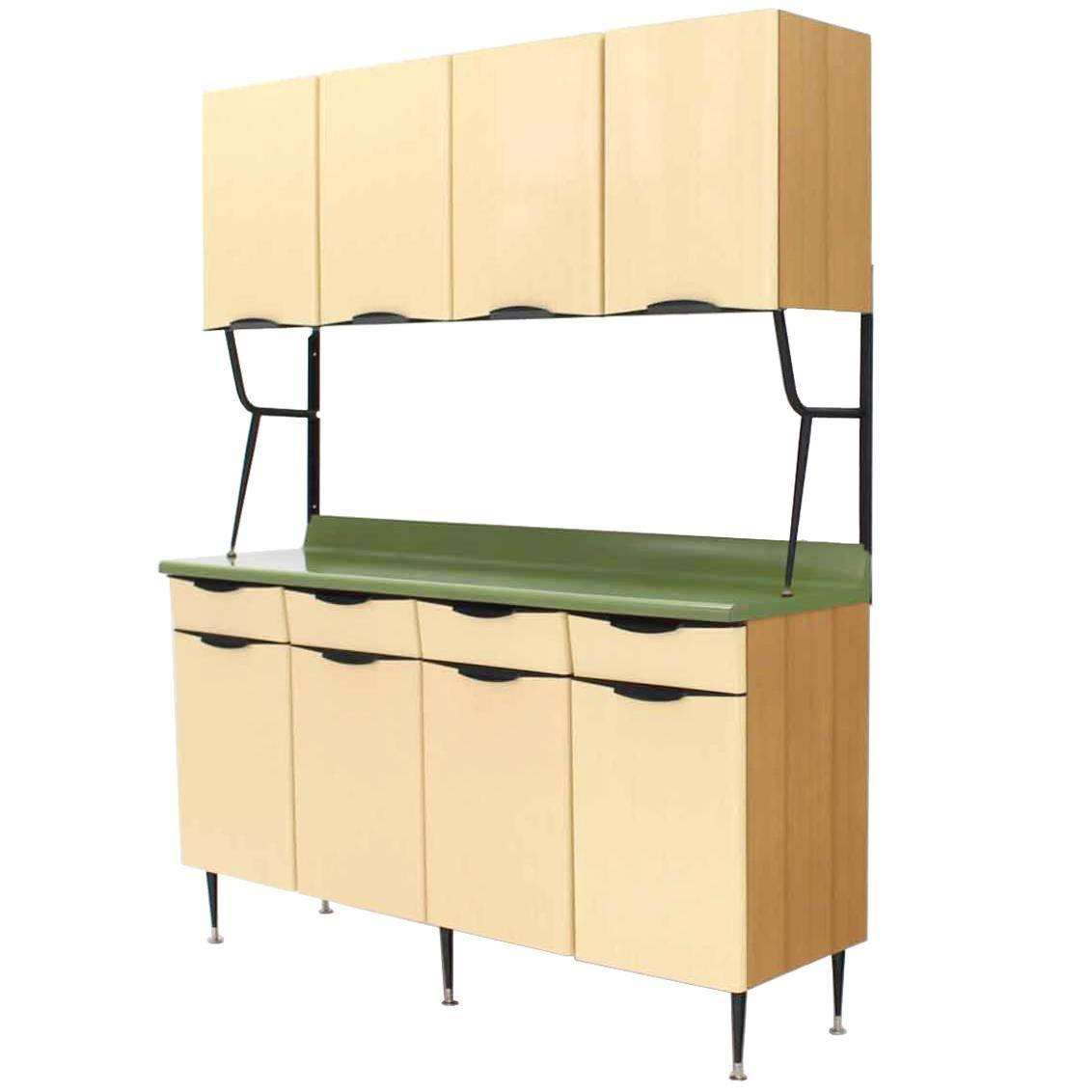 Mid century italian modern kitchen cabinet for sale at 1stdibs for Mid century modern kitchen cabinets