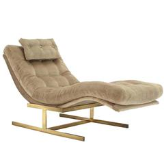 Newly Upholstered Milo Baughman Chaise Longue