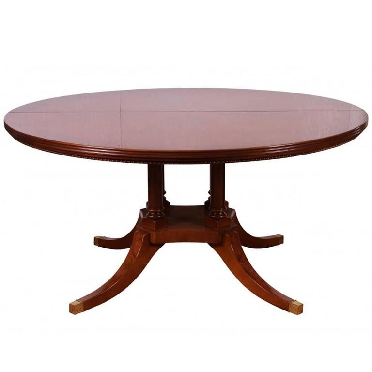Round Regency Style Pedestal Dining Table At 1stdibs