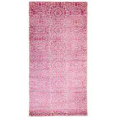 A Silk And Pashmina Area Rug In Pink And Powder Blue 3x6