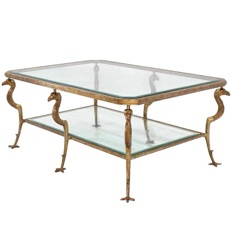 Large Two Tiered Coffee Table By Maitland Smith At 1stdibs