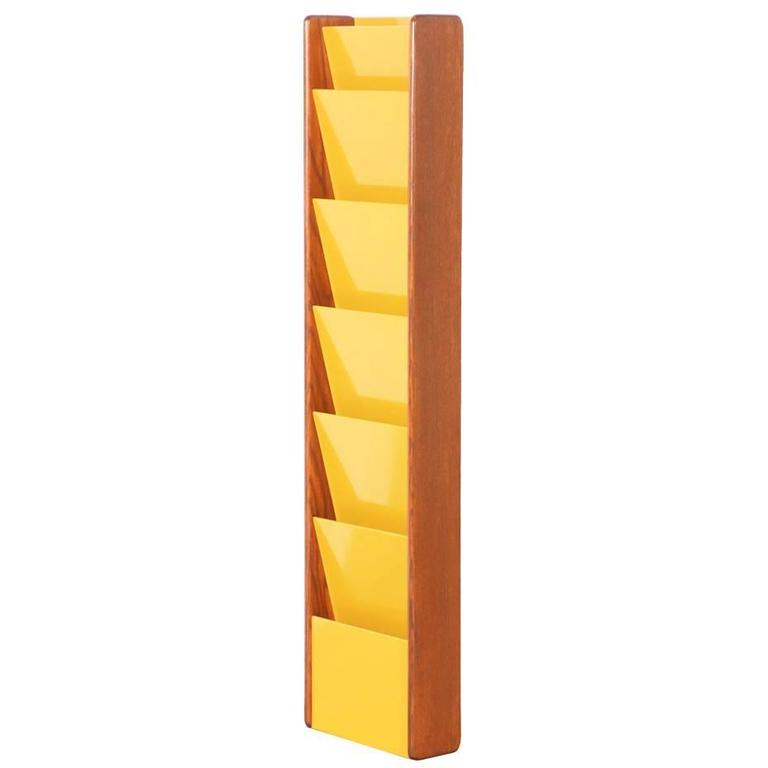 Mustard Wall Mount Magazine Holder by Peter Pepper Products