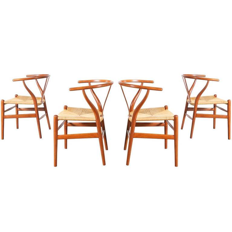 "Hans J. Wegner ""Wishbone"" CH-24 Dining Chairs for Carl Hansen"
