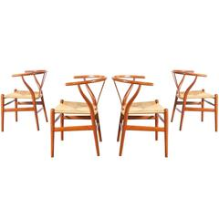 "Hans J. Wegner ""Wishbone"" CH-24 Dining Chairs for Carl Hansen"