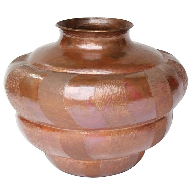 Mexico, Hand-Wrought Copper Vase  1