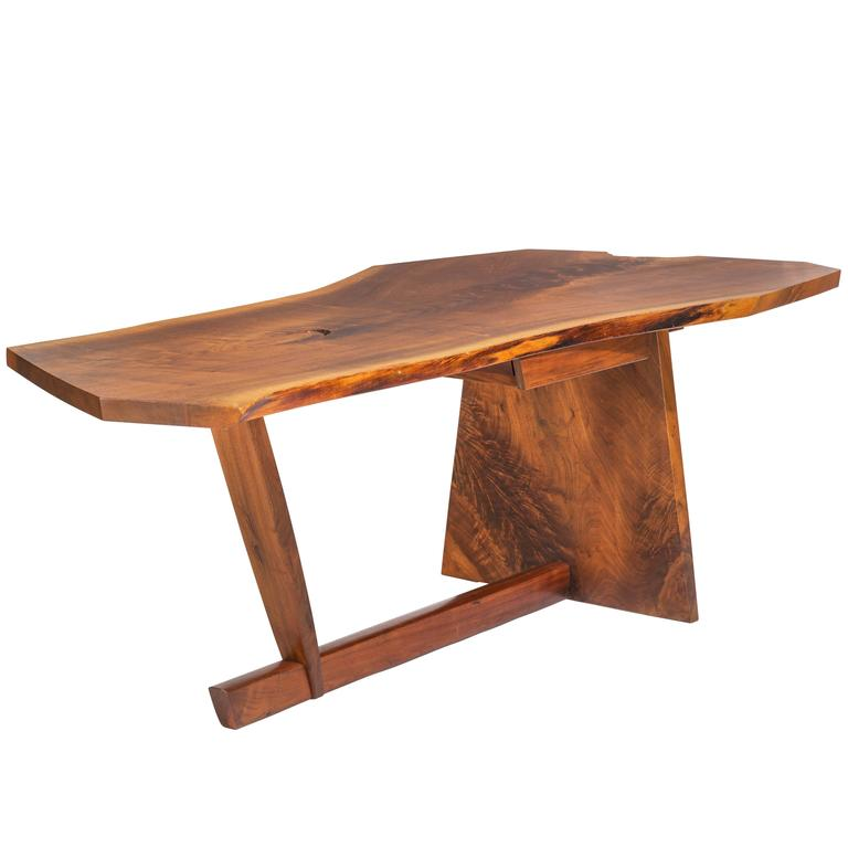 George Nakashima Chairs important george nakashima conoid desk and chair for sale at 1stdibs