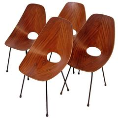 "Four ""Medea"" Chairs by Vittorio Nobili"