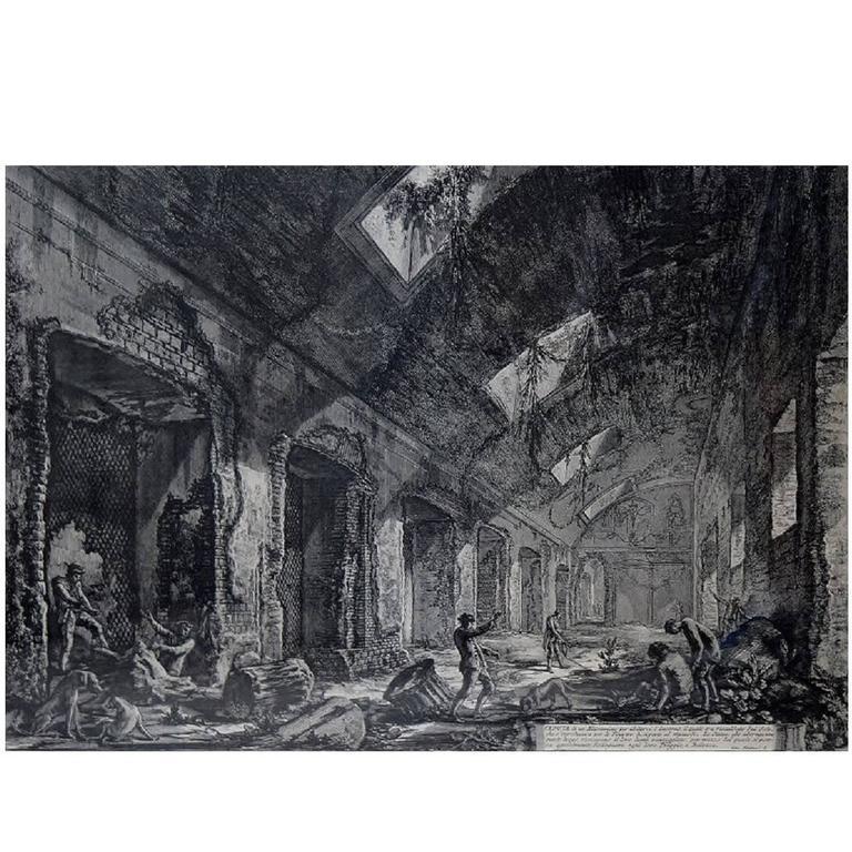 Piranesi Engraving, 19th-20th Century