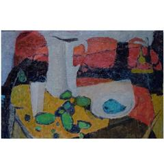 Modernist Composition, Dated 1954-1957, Oil on Board