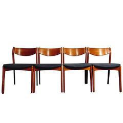 Midcentury Danish Teak Dining Chairs by P.E Jorgensen for Farso Stolefabrik