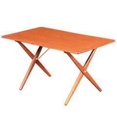 "Hans J. Wegner ""X"" Base Coffee Table for Andreas Tuck"