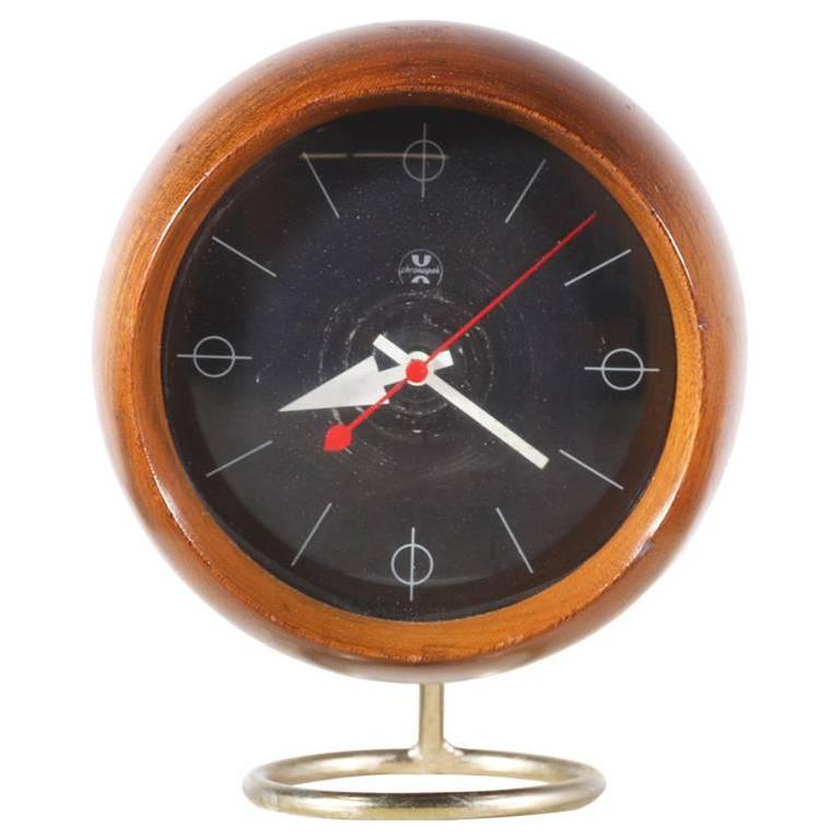 George nelson chronopak orb desk clock for howard miller for Nelson wall clock