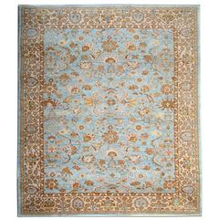 Oriental Rugs, Blue Rugs with Persian Ziegler Carpet Design