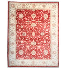 Contemporary Ziegler Red Rug Traditional Oriental Rugs Carpet from Afghanistan