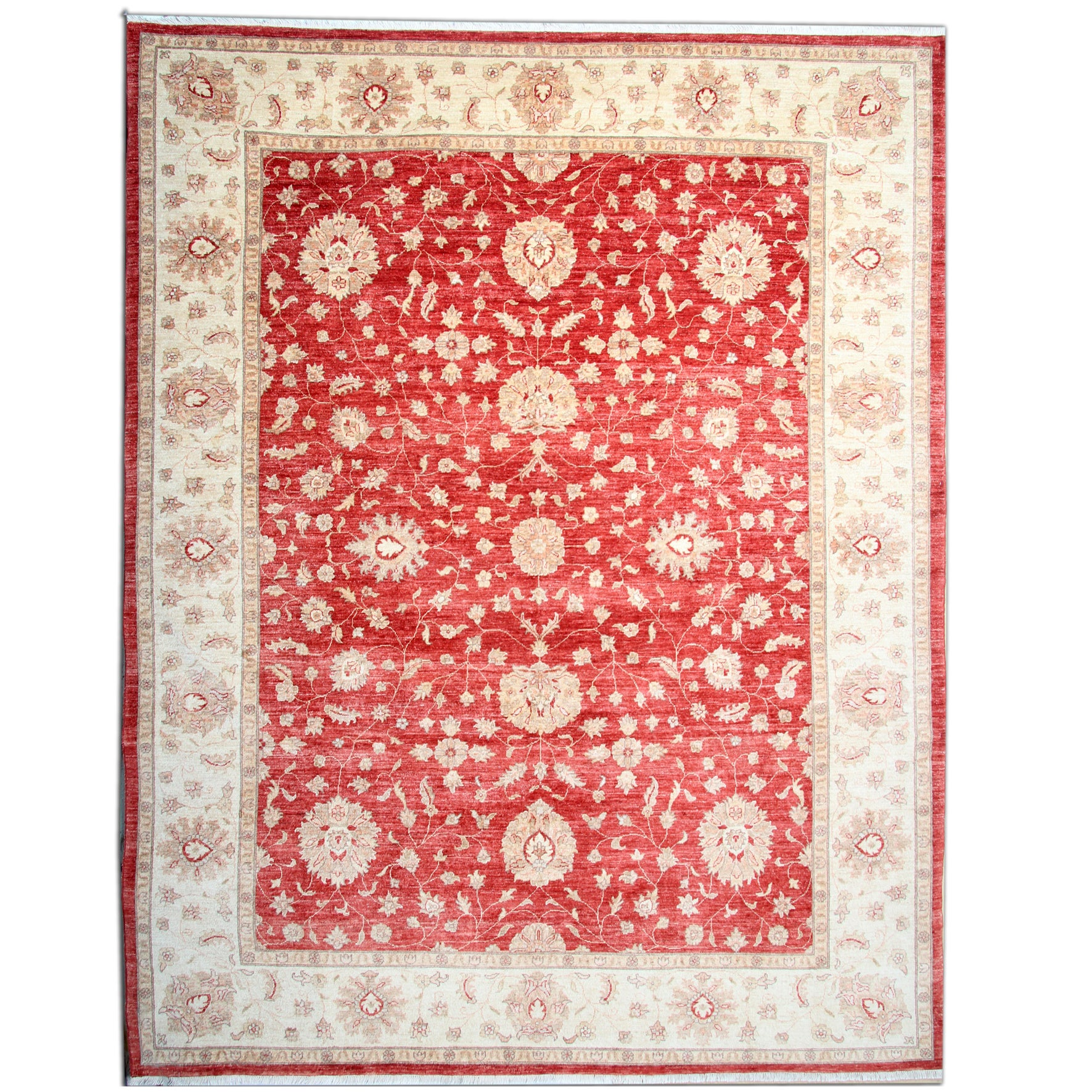 Ziegler Red Rug, Oriental Rugs Carpet From Afghanistan For Sale