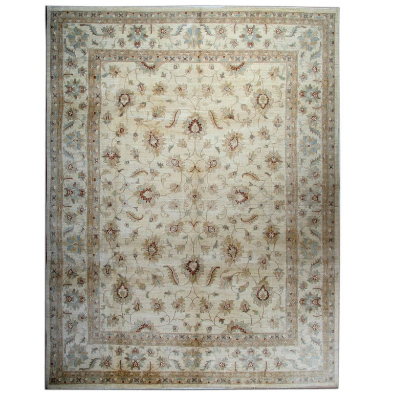 Ziegler Patterned Rug, Cream Oriental Rugs, Afghan 2015 For Sale