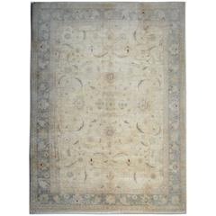 Ziegler Oriental Rug, Cream Persian Style Rugs as floral Dining room rug