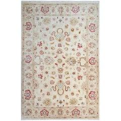 Beige Oriental Rug, Cream Persian Style Rugs, Floral Living Room Rugs