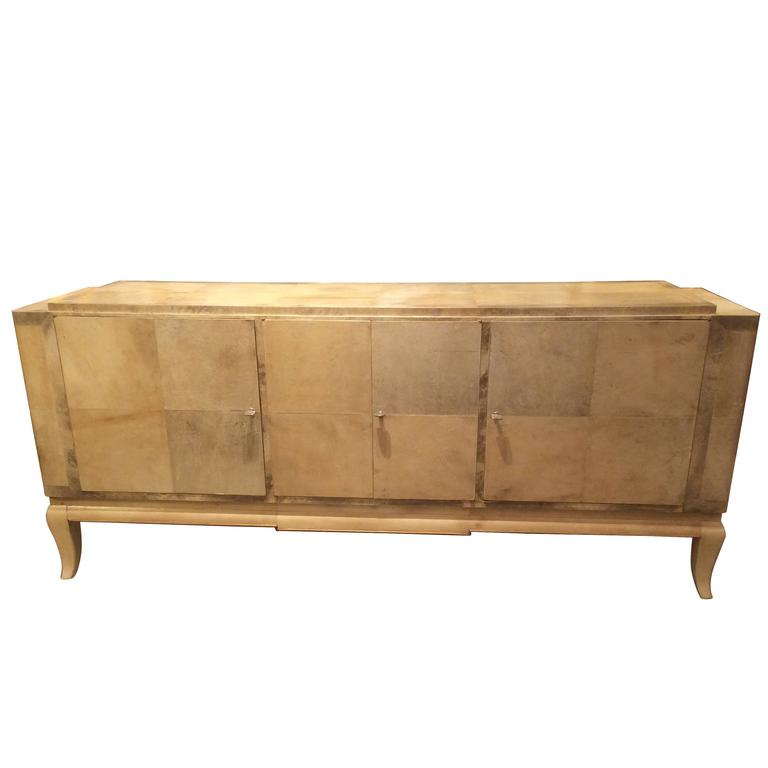 Parchment Credenza Attributed to Samuel Marx