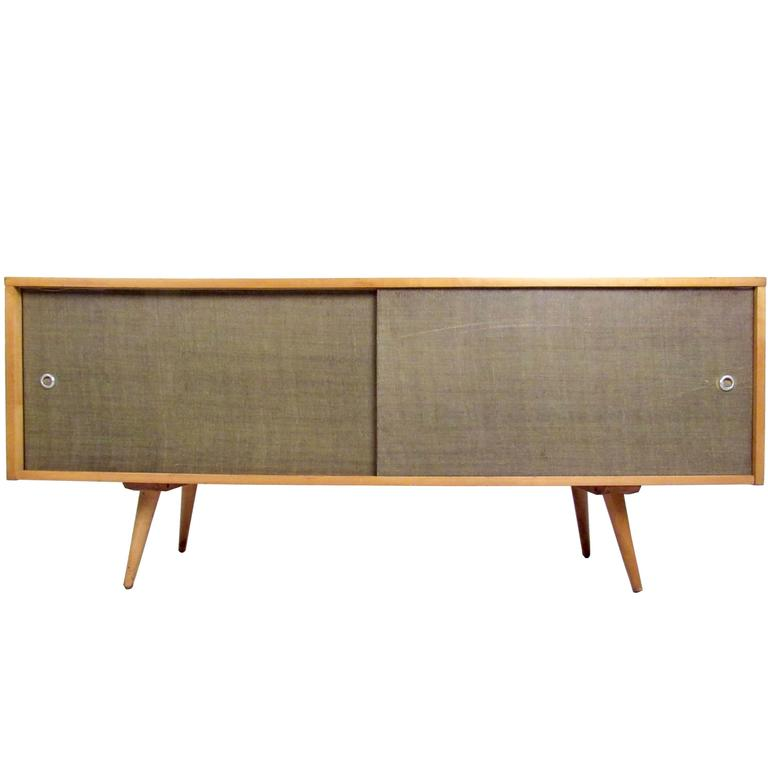 Paul Mccobb Sliding Door Credenza For Sale At 1stdibs