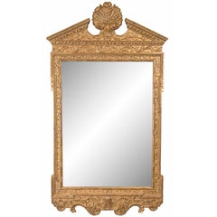 Georgian Style Hand-Carved and Gilt Mirror, Late 20th Century