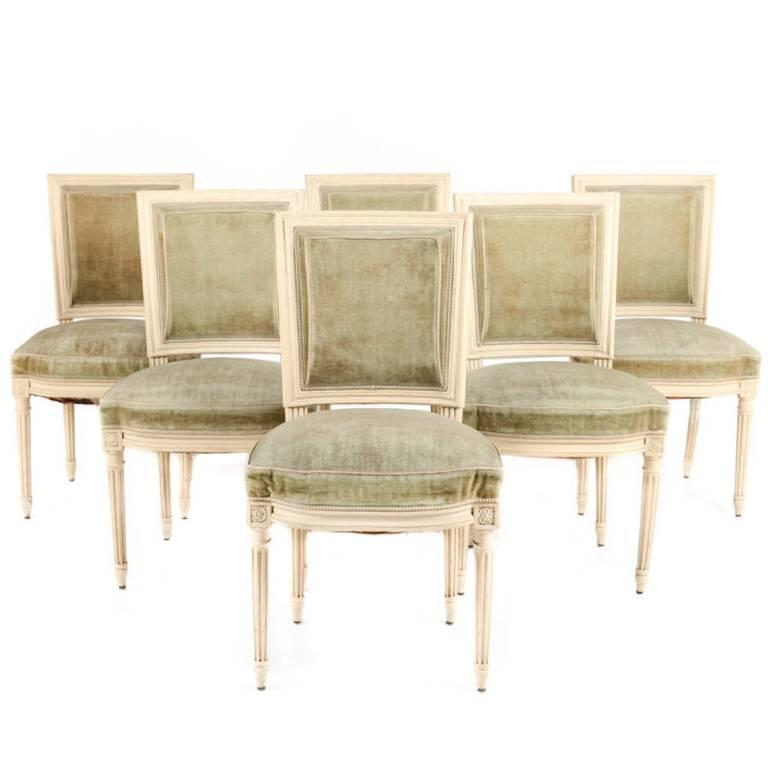 Louis XVI Style Dining Chairs From Paris Circa 1930 For Sale At 1stdibs