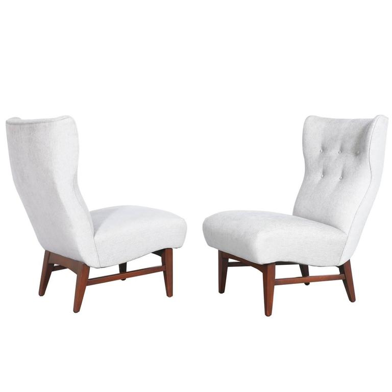 Mid-Century Wingback Side Chairs