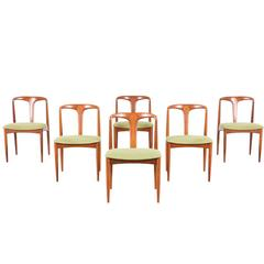 "Johannes Andersen ""Julianne"" Teak Dining Chairs for Uldum Møbelfabrik"