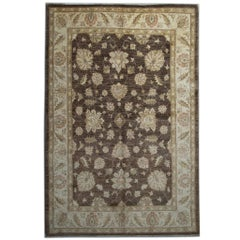 Oriental Afghan Rugs with Persian Ziegler Carpet Design